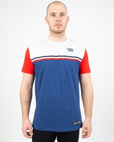 Koszulka Patriotic Clas Tape 3 Colors White-Red-Navy