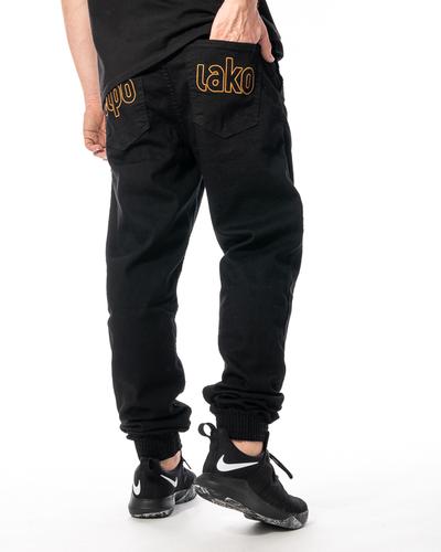 Spodnie Jeans Jogger Slim El Polako Me Elpo Czarne