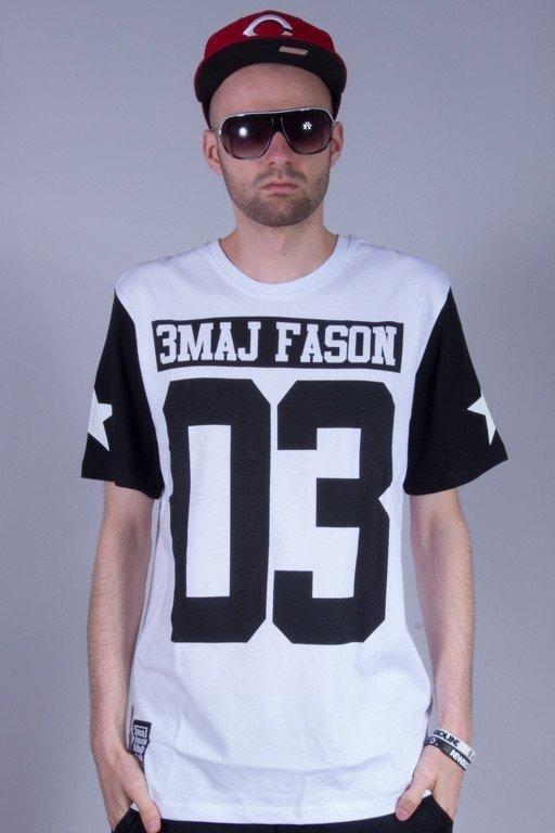 3MAJ FASON KOSZULKA BIG 03 STARS WHITE-BLACK