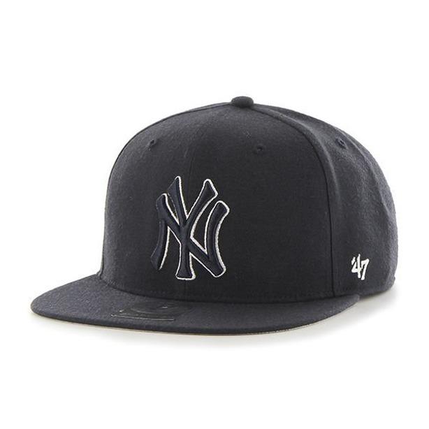47 Brand Czapka Snapback Mlb New York Yankees Black-Black