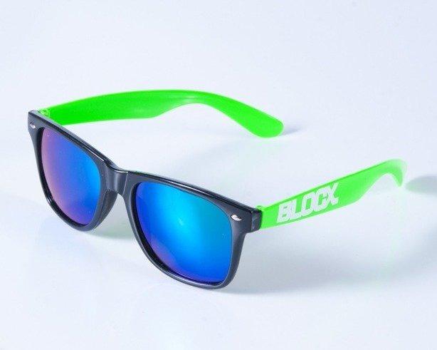 BLOCX OKULARY CLASSIC BLACK-GREEN