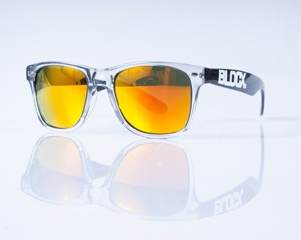 BLOCX OKULARY CLEAR BLACK COL