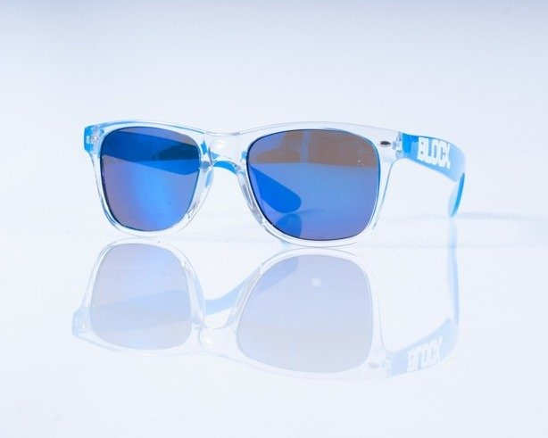 BLOCX OKULARY CLEAR BLUE COL