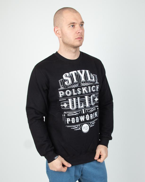 Bluza Bez Kaptura Dixon37 Styl Polskich Ulic Black