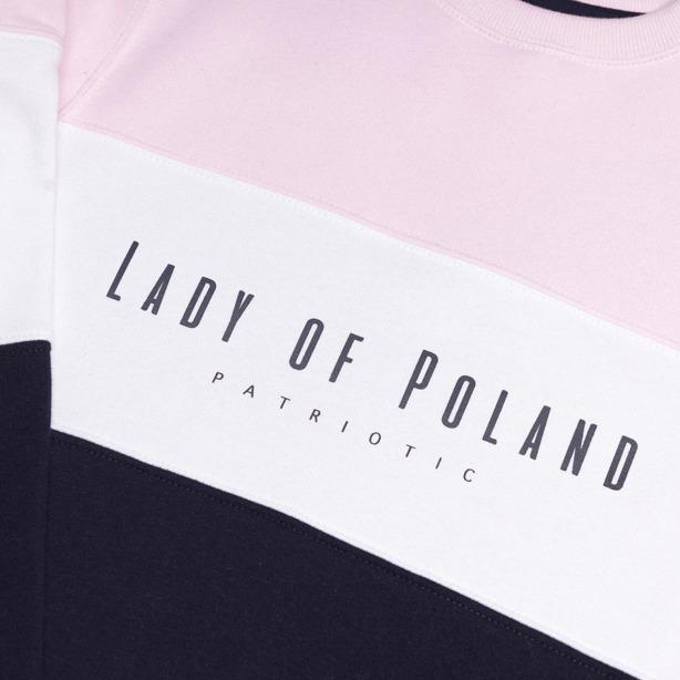 Bluza Damska Patriotic Lady of Poland Trio Pink-Navy