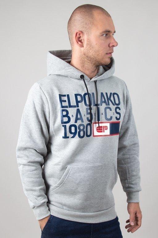 Bluza El Polako Hoodie Basic Melange