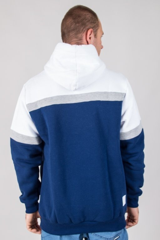 Bluza El Polako Hoodie Colors Cut Navy-White