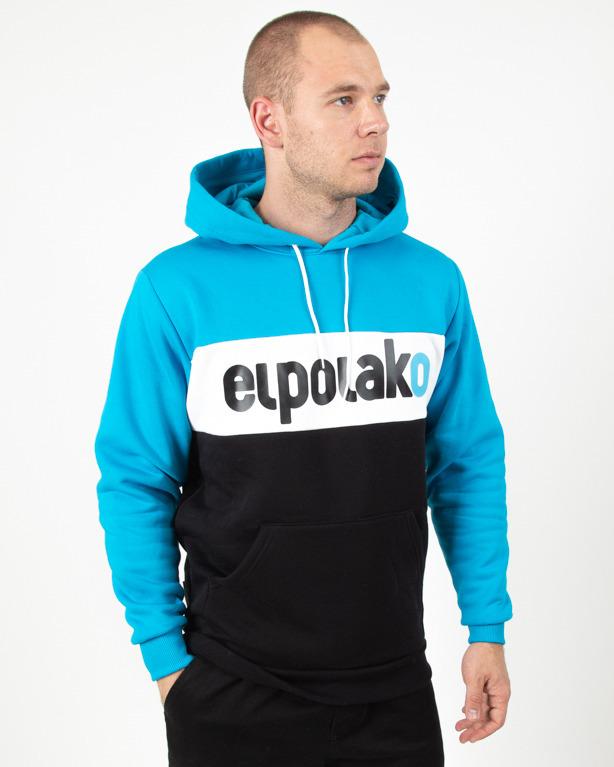 Bluza Hoodie El Polako Elpo New Blue-Black