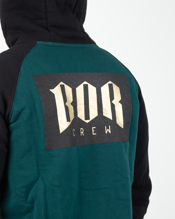 Bluza Hoodie Zip Bor Bornew Gold Green