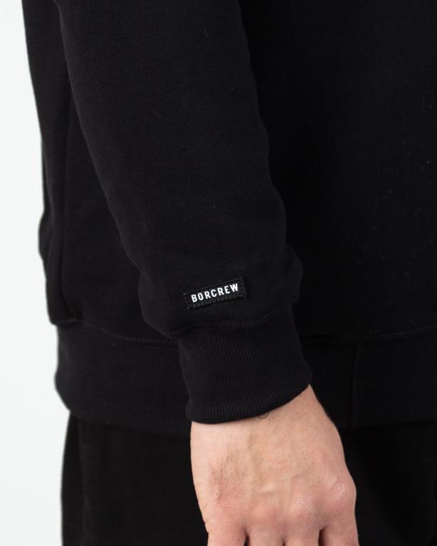Bluza Hoodie Zip Bor One Way Black