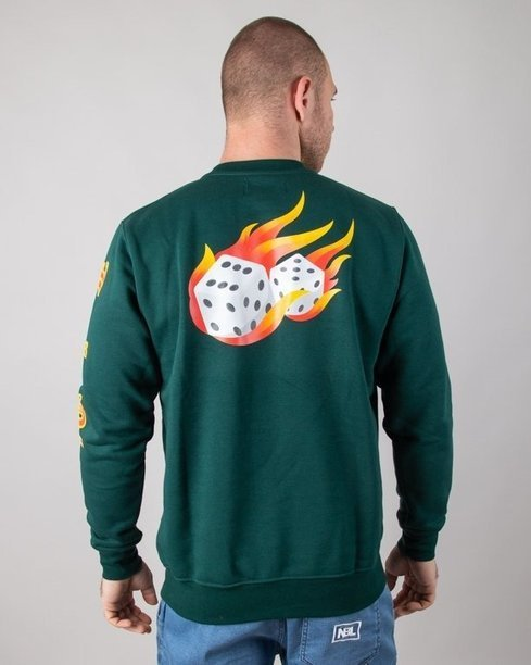 Bluza Lucky Dice Fire Dice Green