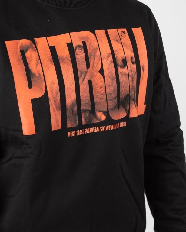 Bluza Pitbull Orange Dog Black