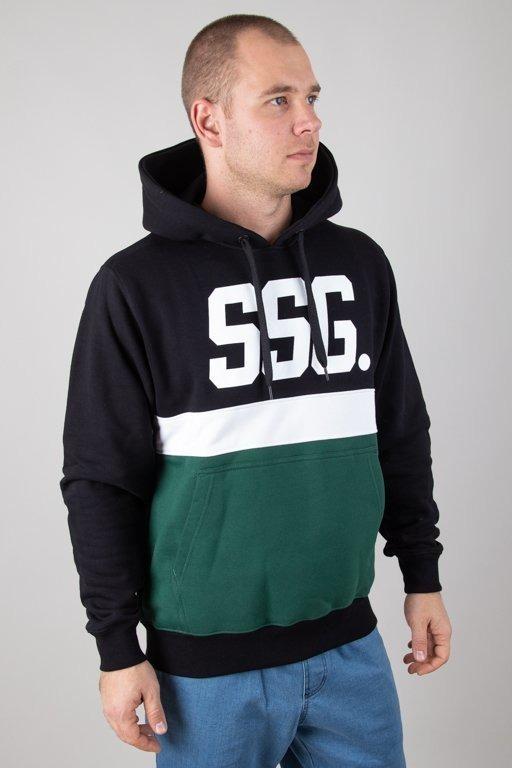 Bluza SSG Hoodie Triple Line Black-Green