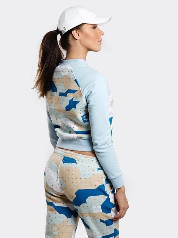Bluza Stoprocent Zip Woman Camu Blue