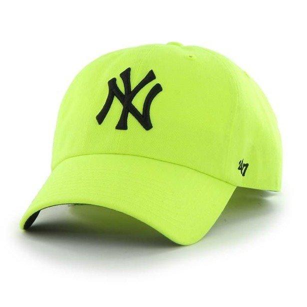 Czapka 47 Brand New York Yankees Clean Up Neon Yellow