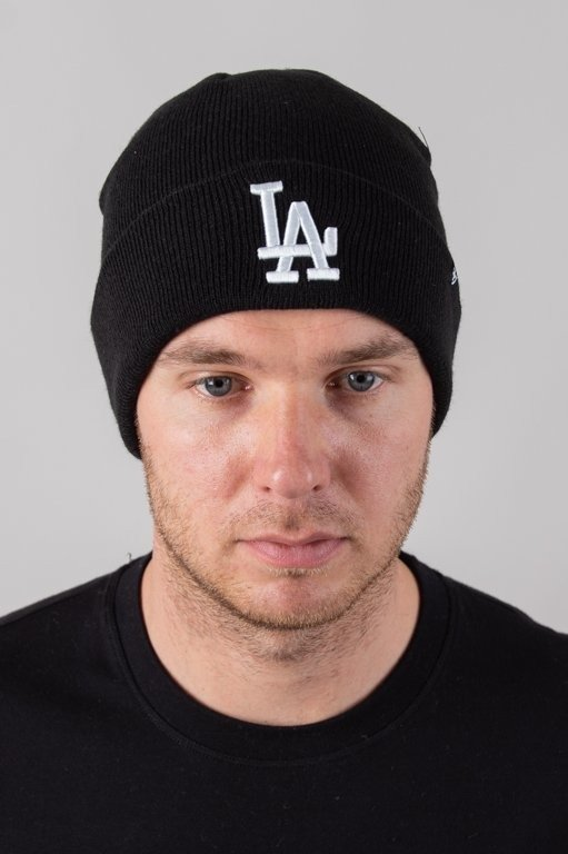 Czapka 47 Brand Zimowa Raised Cuff Los Angeles Dodgers Black-White
