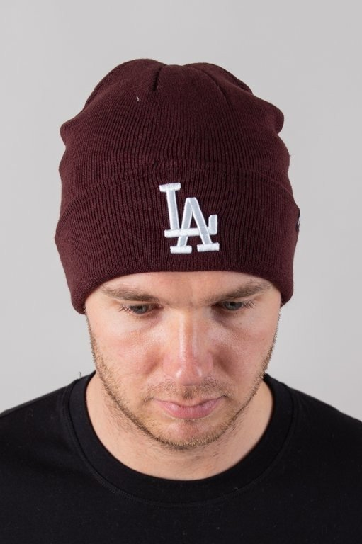 Czapka 47 Brand Zimowa Raised Cuff Los Angeles Dodgers Brick-White