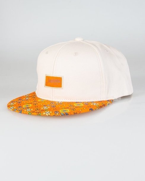 Czapka True Spin Snapback Flowers Pixel Beige-Orange