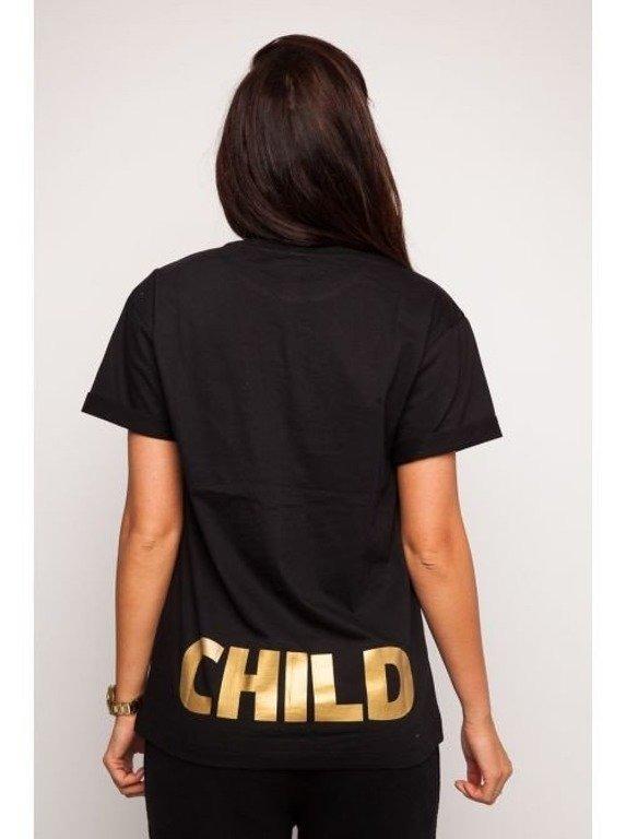 DIAMANTE CHICKS KOSZULKA GOLDEN CHILD BLACK