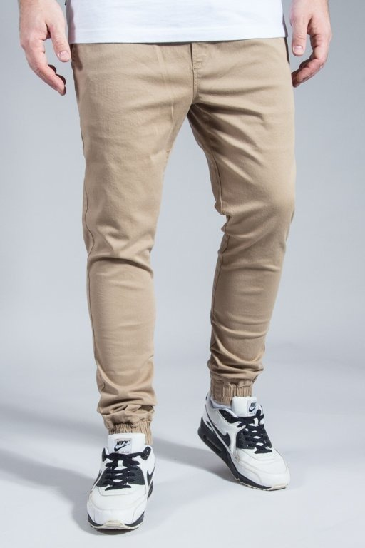 DIAMANTE WEAR PANTS CHINO JOGGER CLASSIC BEIGE