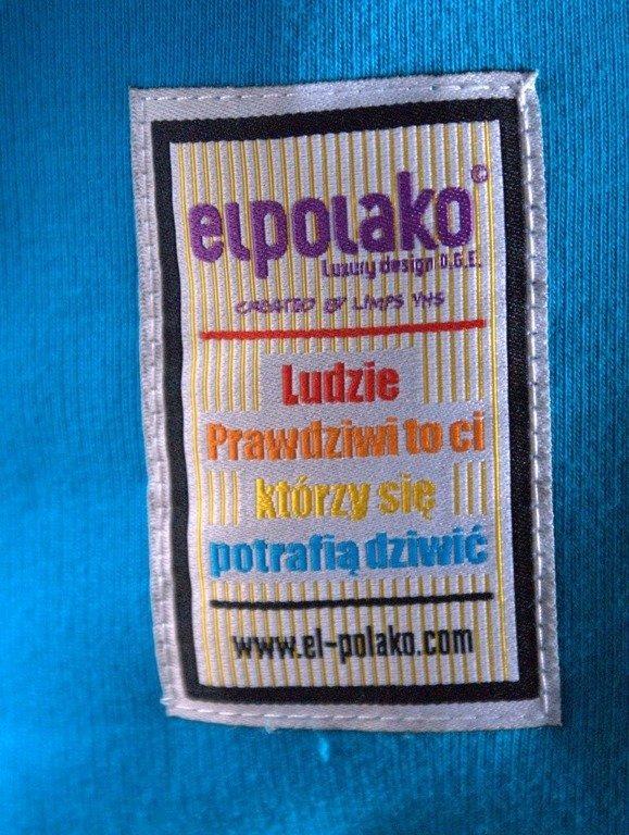 EL POLAKO BLUZA BEZ KAPTURA AZTEC  BLUE
