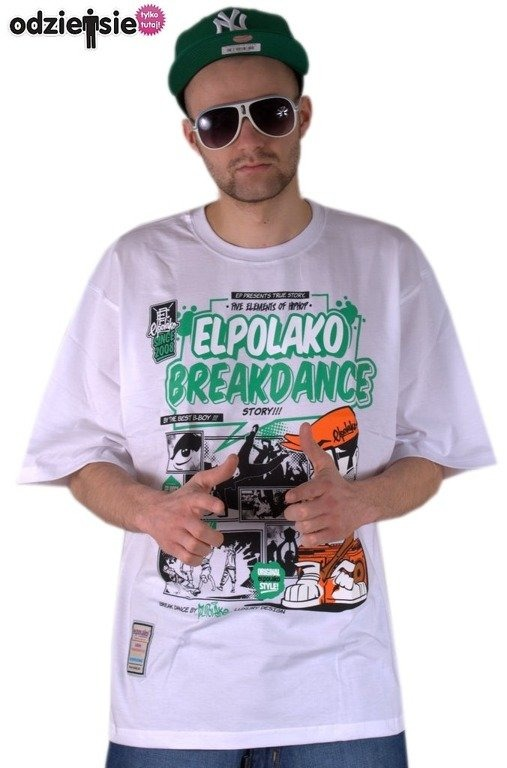 EL POLAKO KOSZULKA BREAKDANCE WHITE