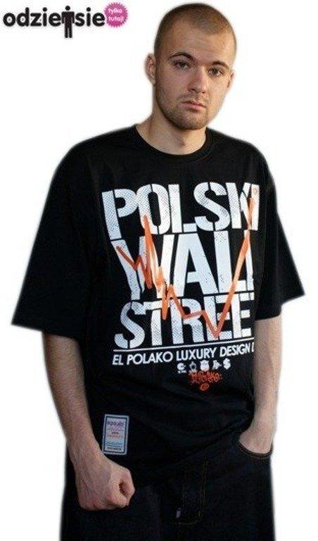 EL POLAKO KOSZULKA POLSKI WALL STREET BLACK