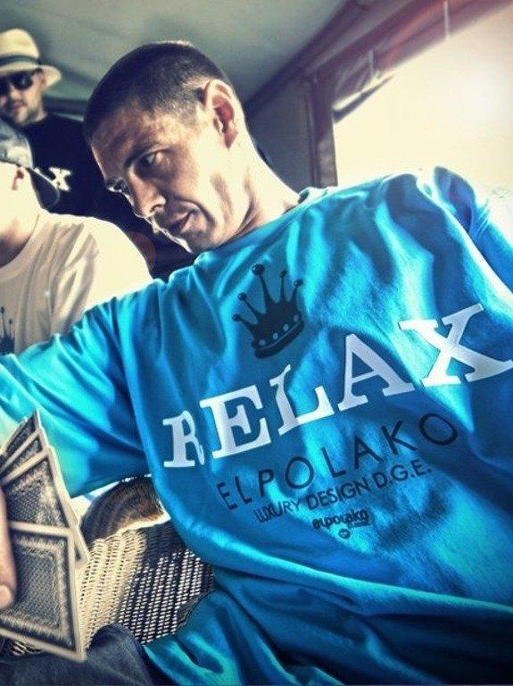 EL POLAKO KOSZULKA RELAX BLUE