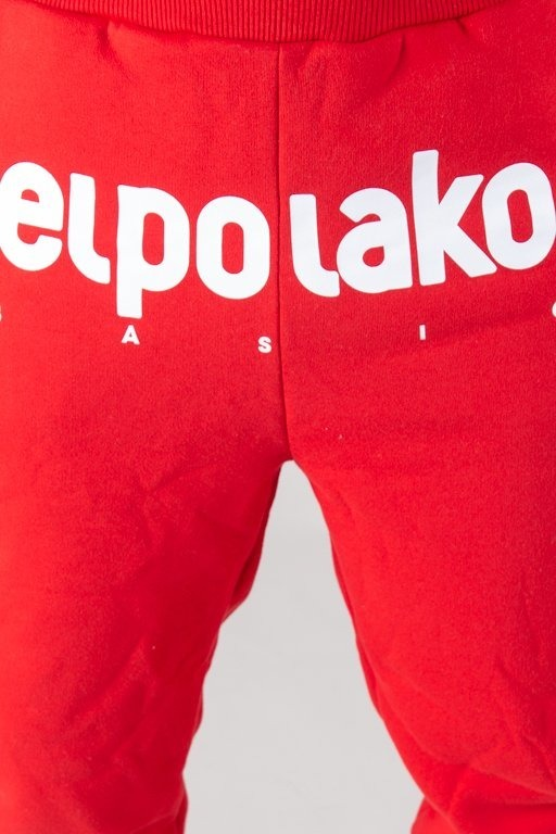 EL POLAKO SWEATPANTS FIT CLASSIC RED