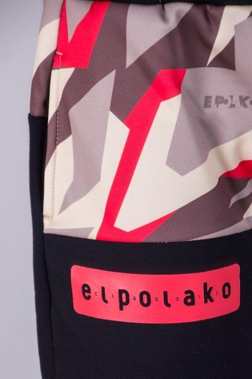EL POLAKO SWEATPANTS FIT HALF TRIANGLE MORO RED