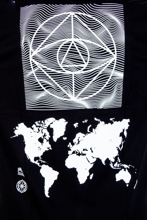 EL POLAKO T-SHIRT CYRCLE WORLD BLACK