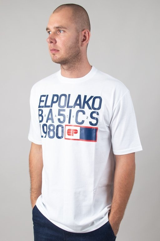 El Polako Koszulka T-shirt Ep Basic White