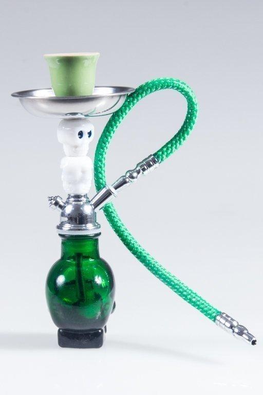 Fajka Shisha Skull Small Green