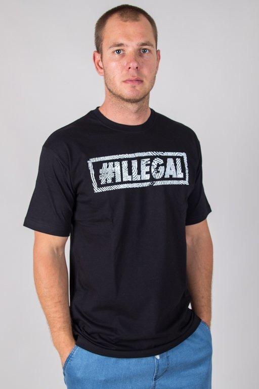 ILLEGAL T-SHIRT ODCISK BLACK