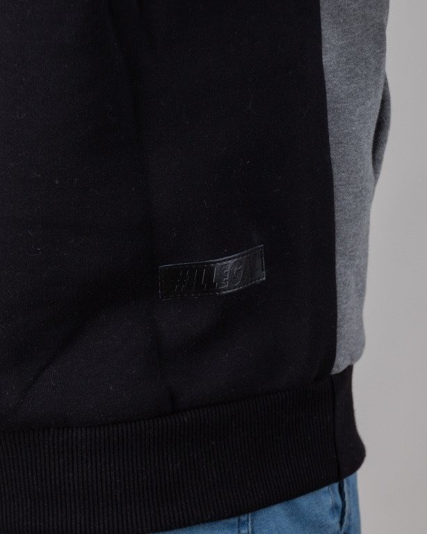 Illegal Bluza Z Kapturem Color Black-Grey