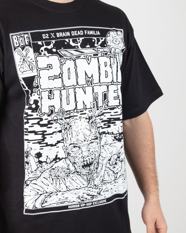 Koszulka Brain Dead Familia Zombie Hunter Black