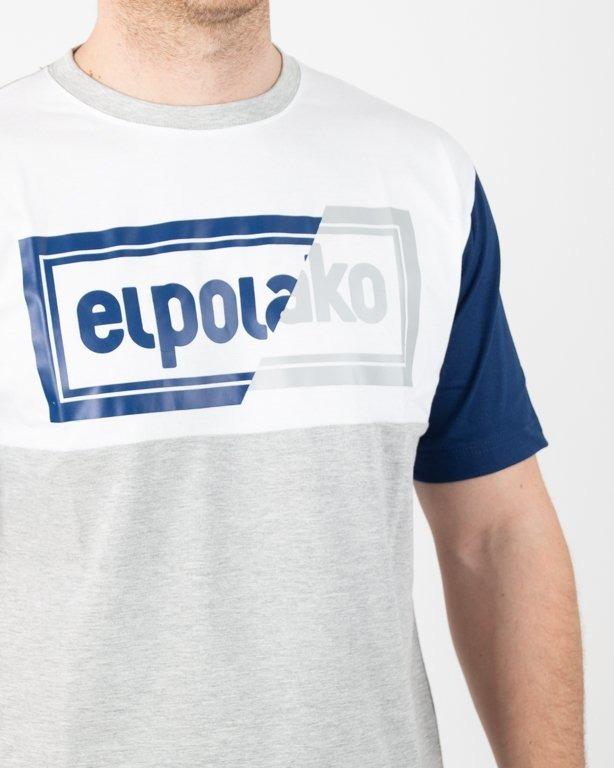 Koszulka El Polako Cut Color Grey-Navy