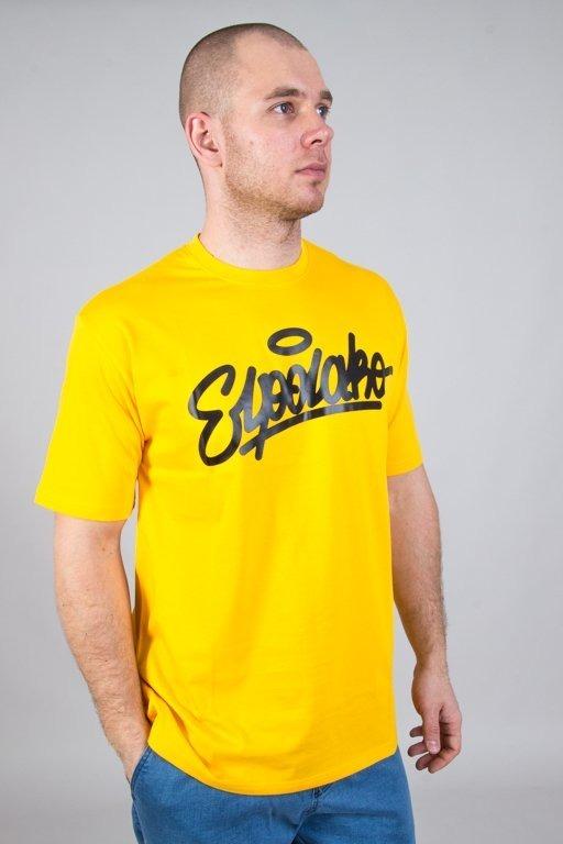 Koszulka El Polako Handwritten Yellow