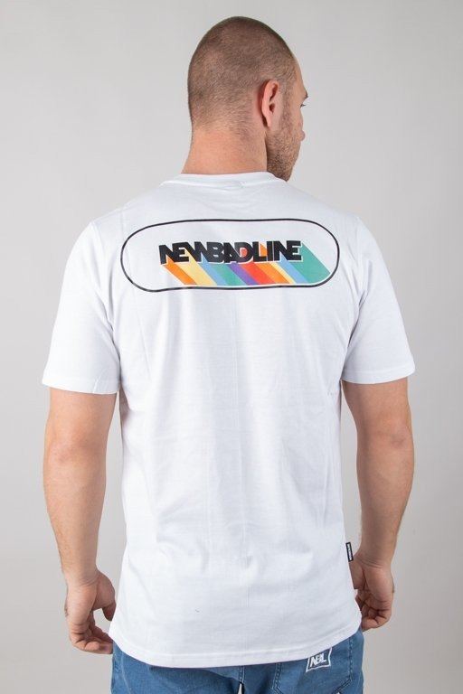Koszulka New Bad Line Rainbow White