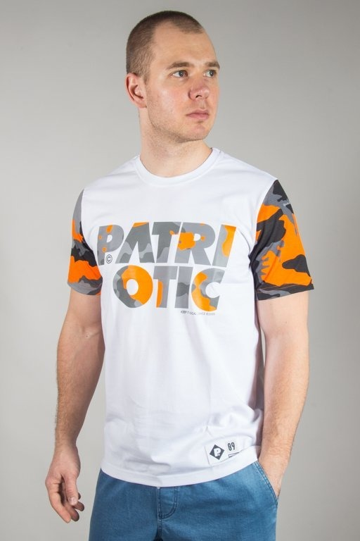 Koszulka Patriotic Cls Camo White