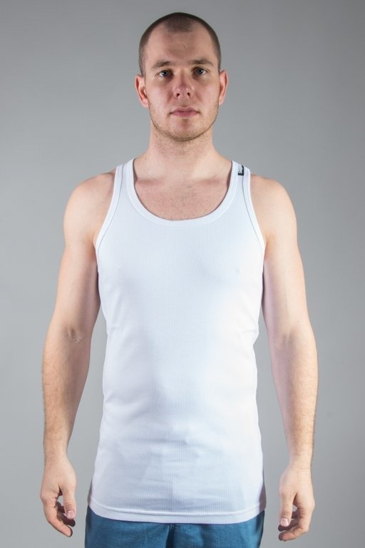 Koszulka Stoprocent Tank Top Ribb Long Simple White