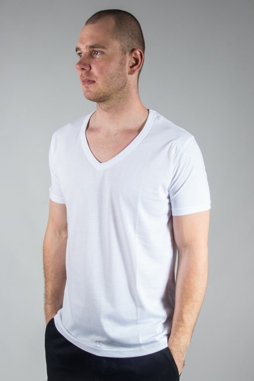 Koszulka Stoprocent Vneck17 White
