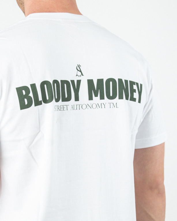 Koszulka Street Autonomy Bloody Money White