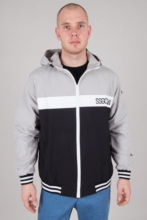 Kurtka SSG Wiatrówka Zip Color Black-Grey