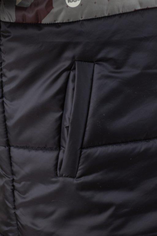Kurtka Stoprocent Zimowa Puffer Slice Black-Camo