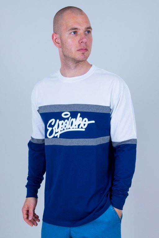 Longsleeve El Polako Colors Cut Navy-White