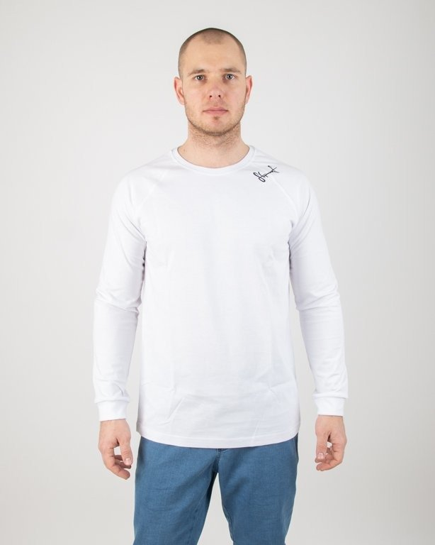 Longsleeve Stoprocent Base Smalltag White