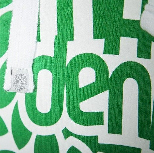 MASS BLUZA Z KAPTUREM BASE 013 FV GREEN-WHITE