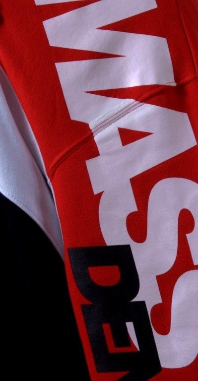 MASS BLUZA Z KAPTUREM ZIP FLAG RED