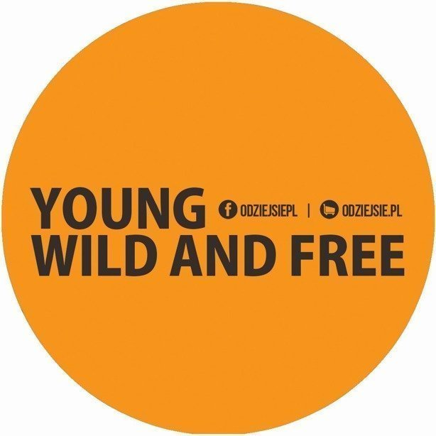 Odziejsie Wlepka Young Wild And Free Yellow